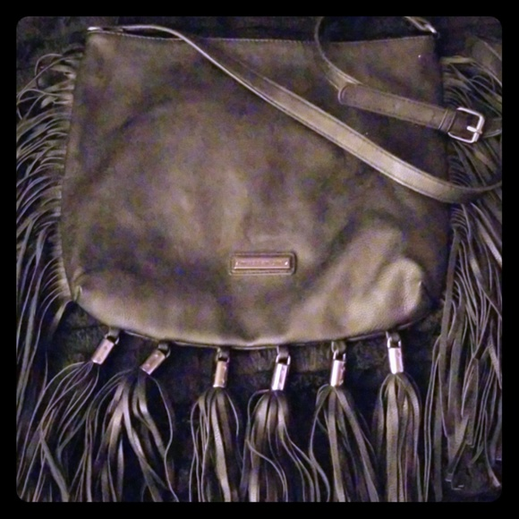 Madden Girl Handbags - Black Fringe Crossbody Bag